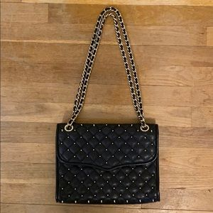 Rebecca Minkoff Quilted Affair Black Studded Bag